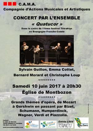 concert Montbozon 10 juin 2017, quatuor de cor Quatucor